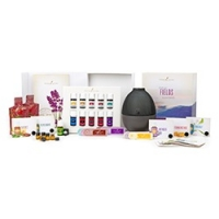 Essential Oils Premium Starter Kit with Rainstone Diffuser